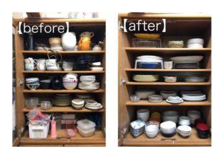 食器棚 整理収納サービス