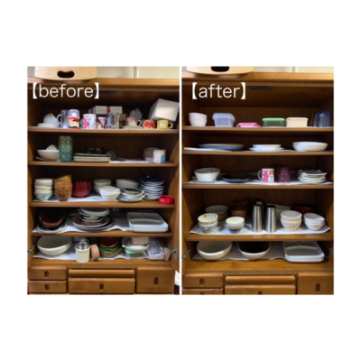 食器棚 収納 サポート