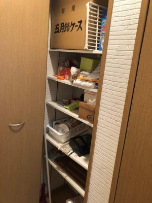 廊下収納 棚収納 可動式