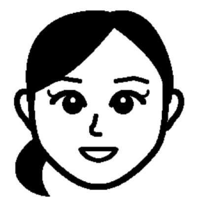 テプラLR30 似顔絵