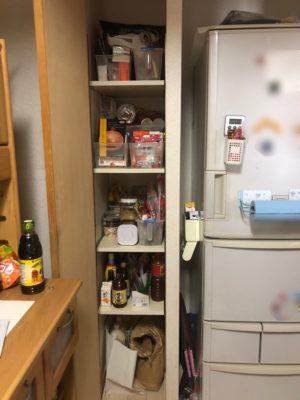 食品ストック 食品棚