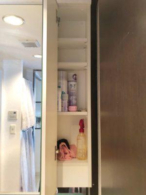 洗面収納 鏡裏