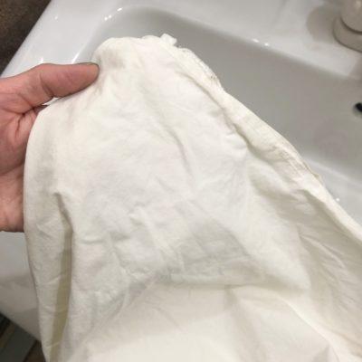 布団カバーの黄ばみ